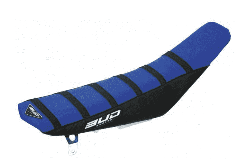 SEAT COVER BUDRACING HUSQVARNA TC/FC 16-18,TE/FE 17-18 BLUE/BLACK/BLACK STRIPES