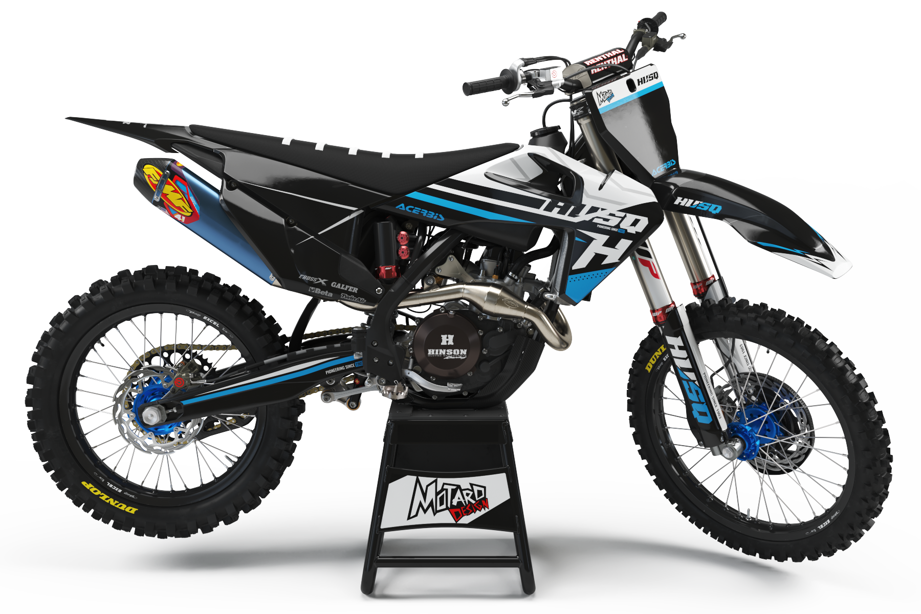HUSQVARNA GRAPHICS KIT - SERENITY BLUE