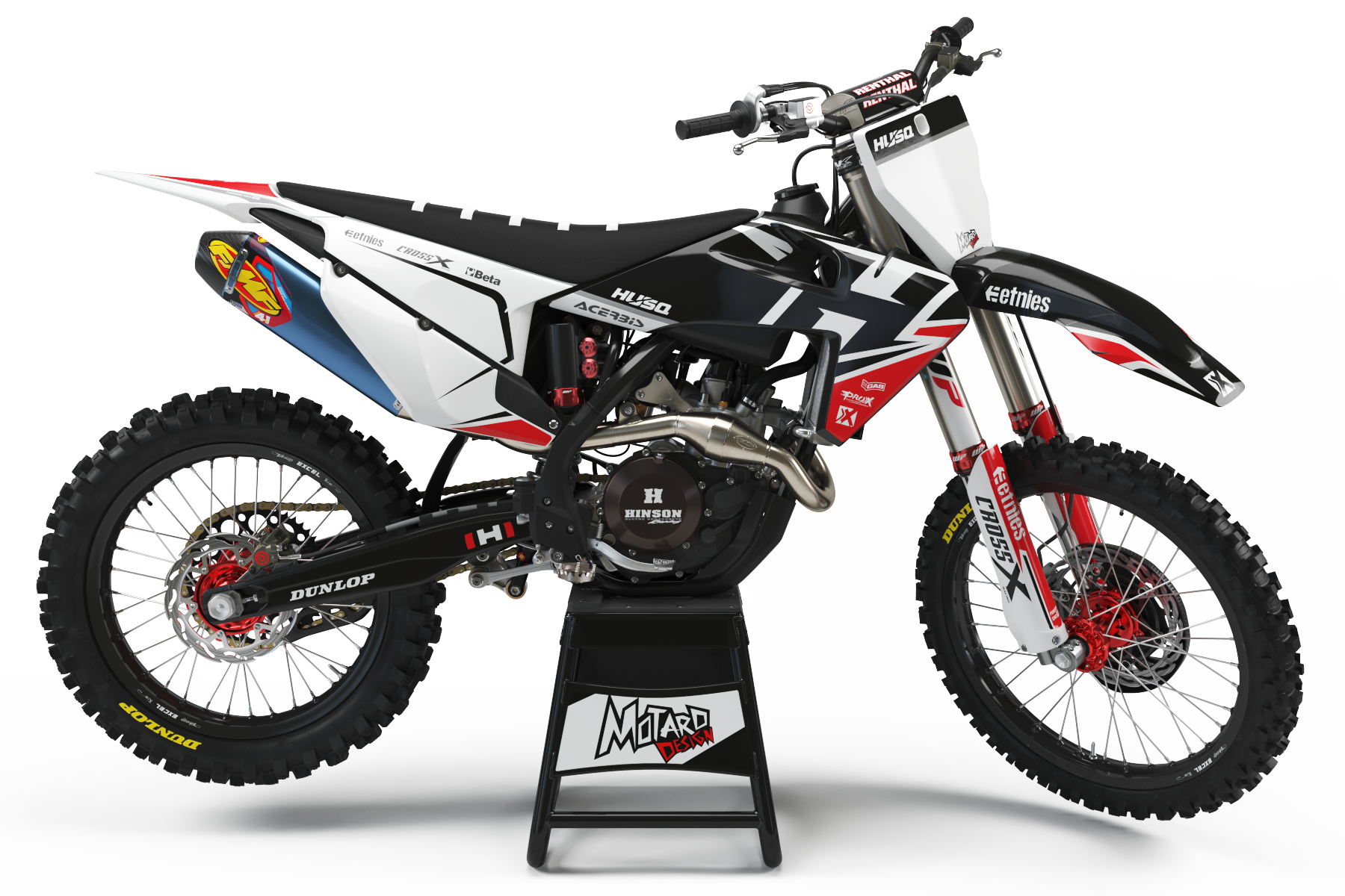 HUSQVARNA GRAPHICS KIT - ZONED RED