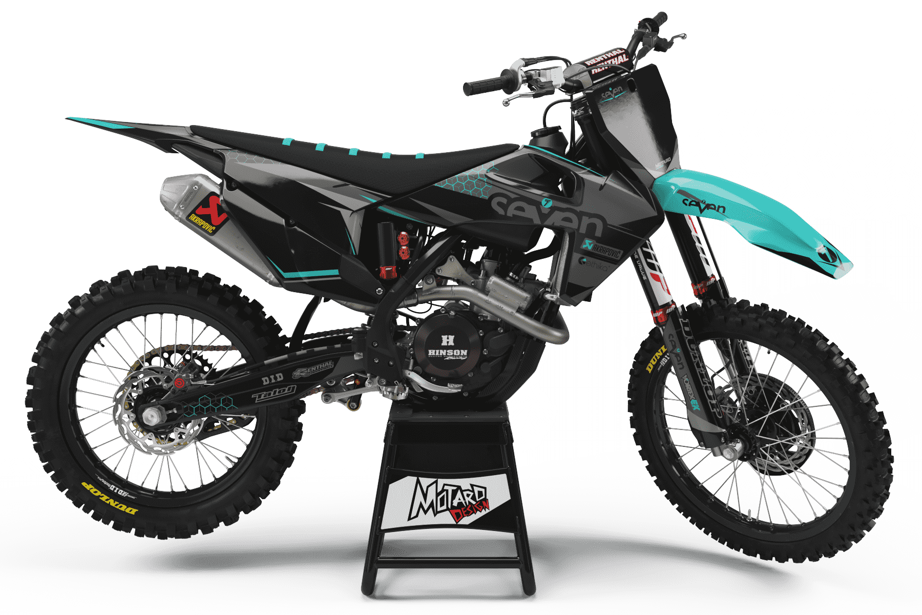 HUSQVARNA GRAPHICS KIT - BRIDGE TEAL