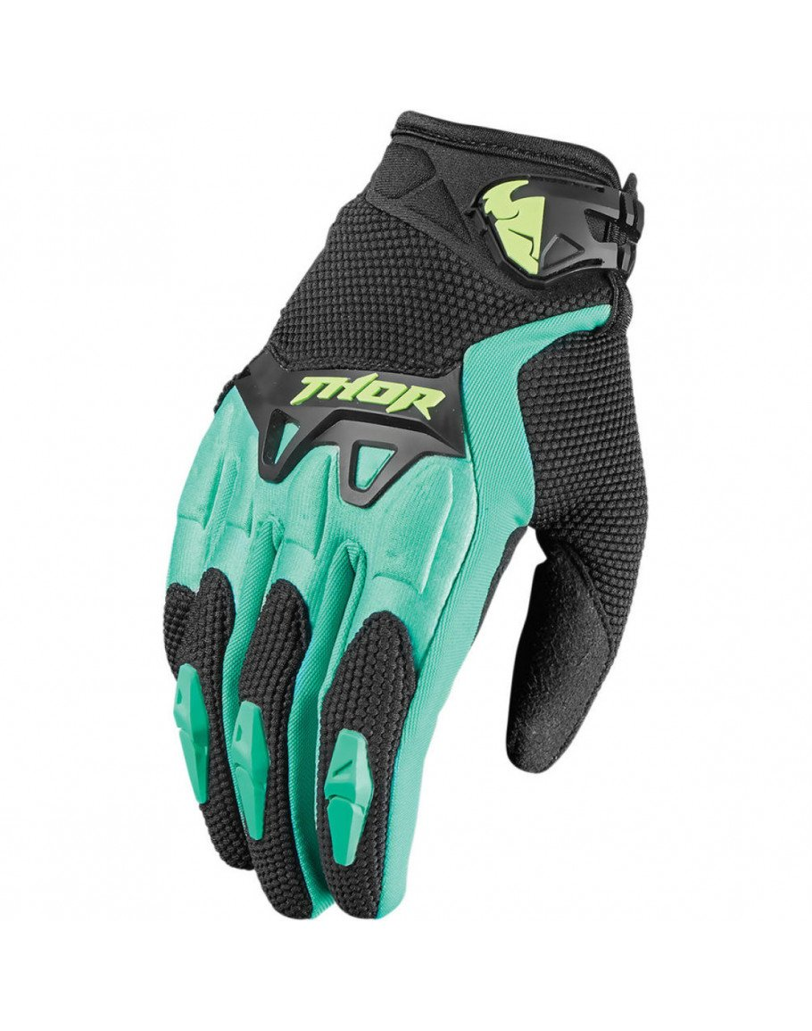 Rukavice Thor S7W Spectrum black/teal lady